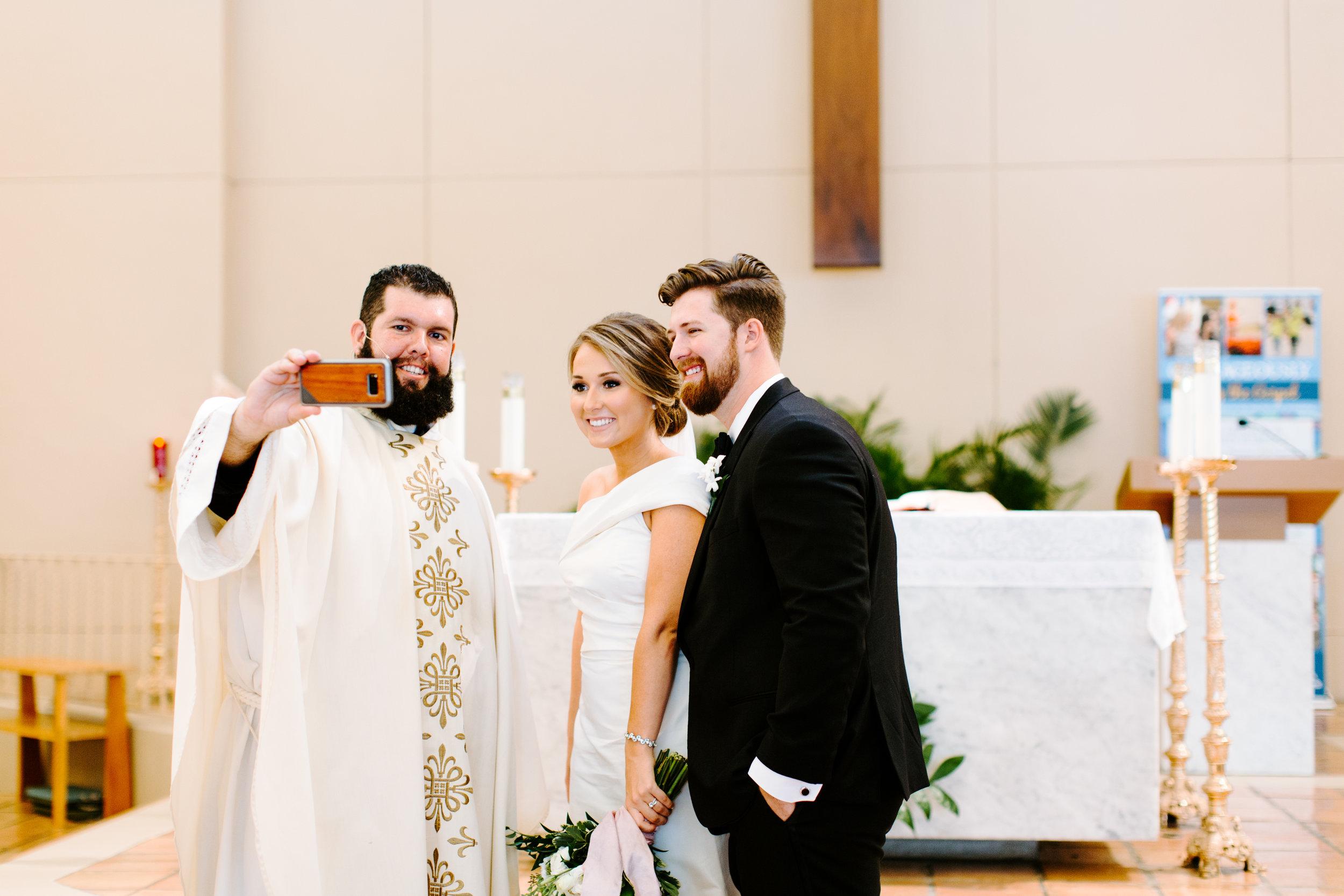 selfie with priest