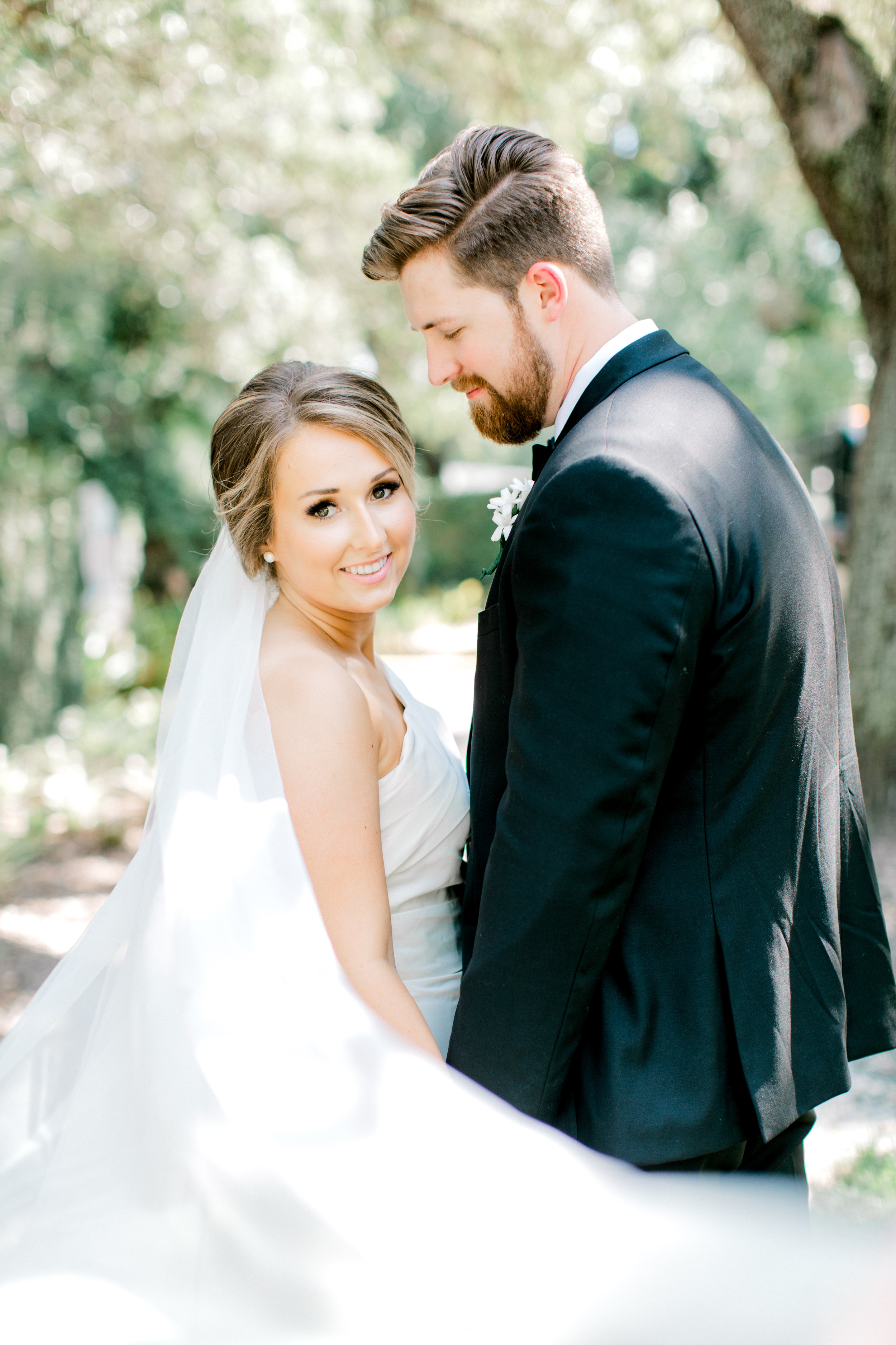 bride veil shot
