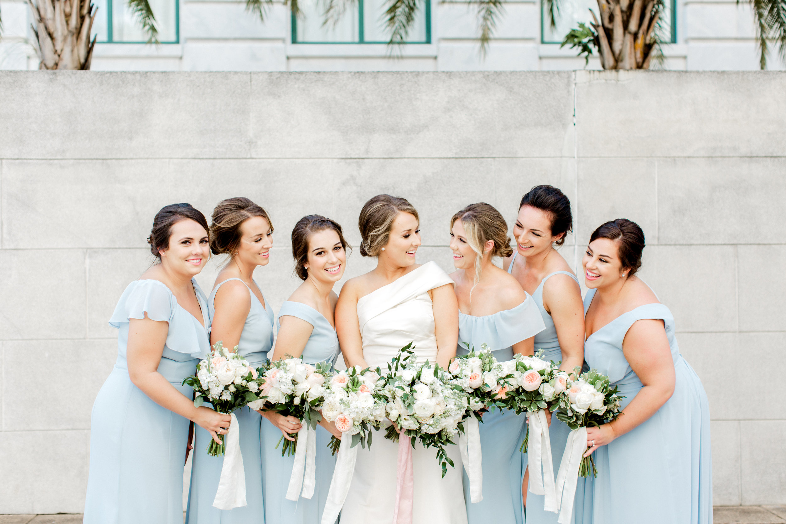 bridesmaids in downtown tampa