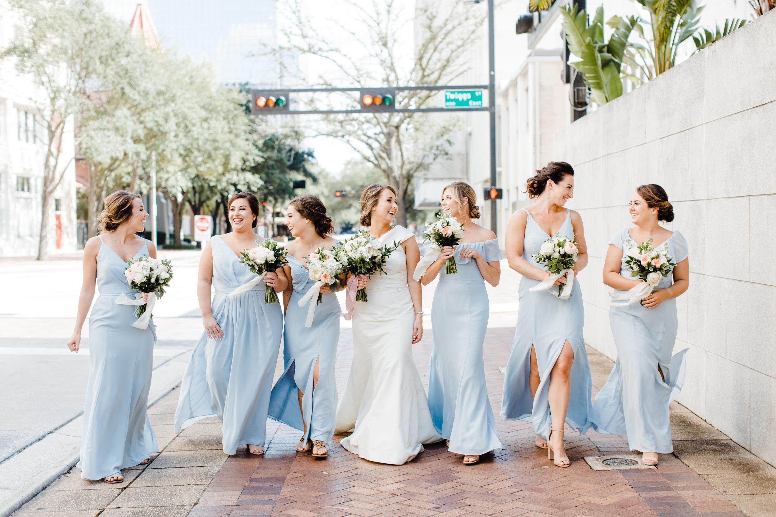 baby blue bridesmaids dresses