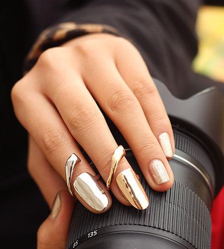 Fingernail rings from Etsy seller  BeMeJewellery