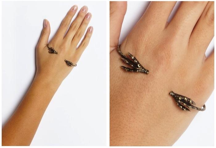 Talon Hand Bracelet from  Wasteland Jewelry