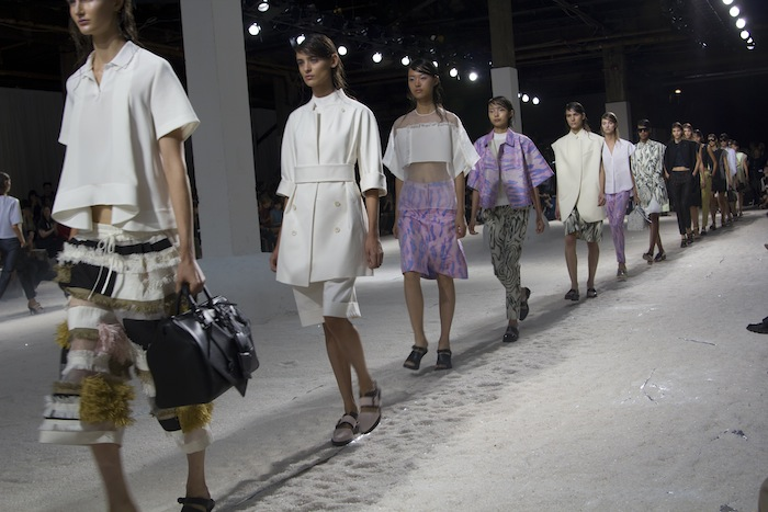 Pastels, patchwork fringe and the return of the mule at   3.1 Phillip Lim Spring 2014  .