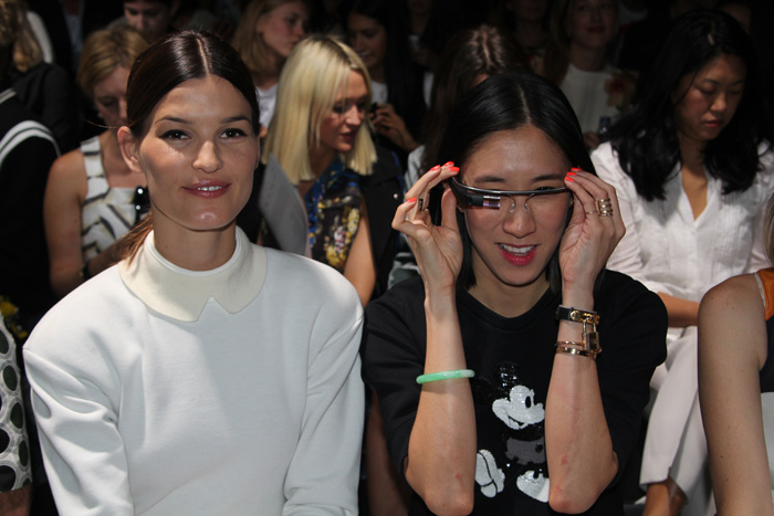Fashion's elite line the   front row at Prabal Gurung Spring 2014  .