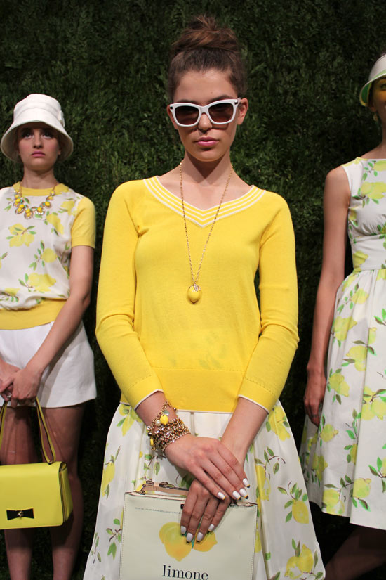 European-inspired vacation-wear at   Kate Spade Spring 2014  .