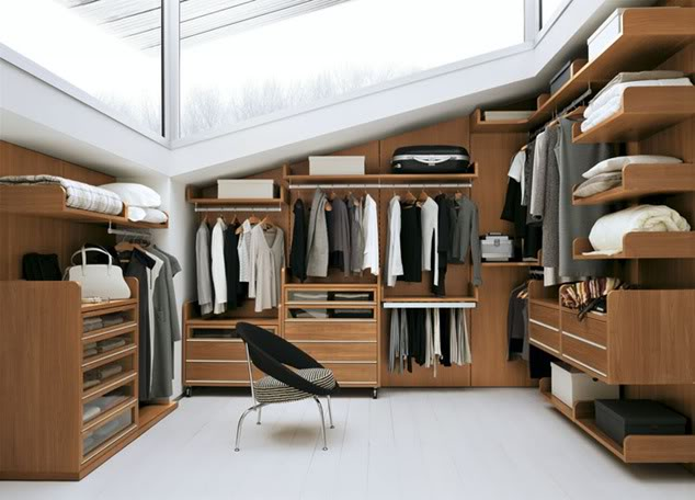 Not my closet, but let's pretend. image via  zippercut