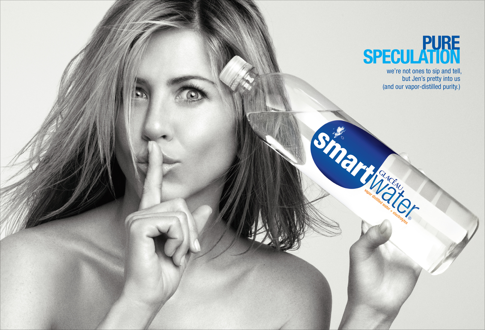 smartwater: jennifer aniston: print/ooh 2009
