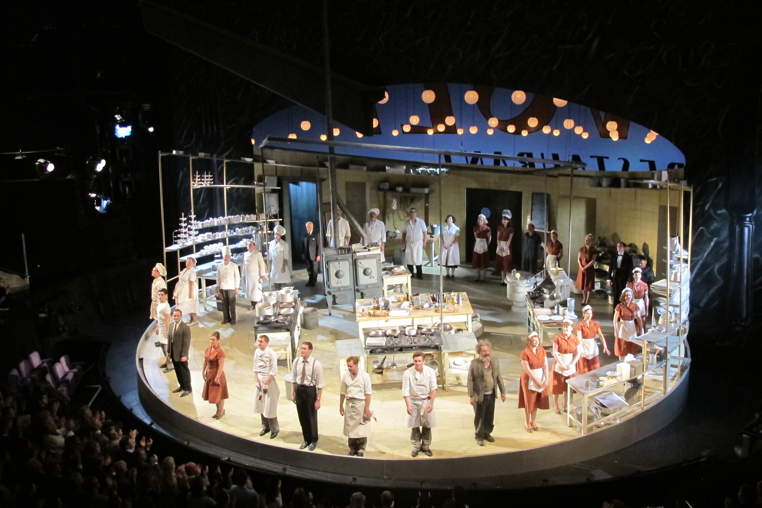 The cast of  The Kitchen  take a bow