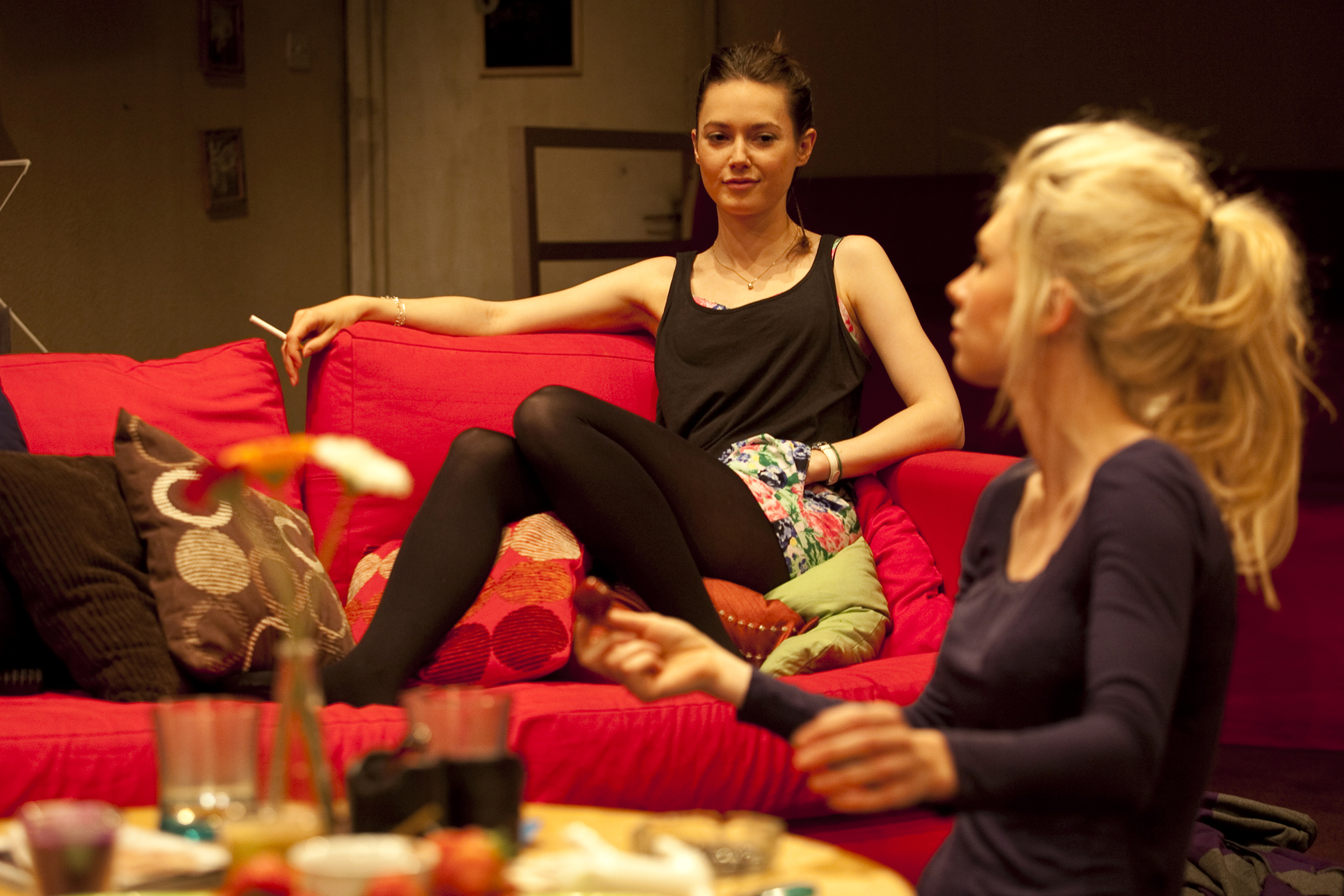 Lydia Wilson and Vanessa Kirby in  The Acid Test