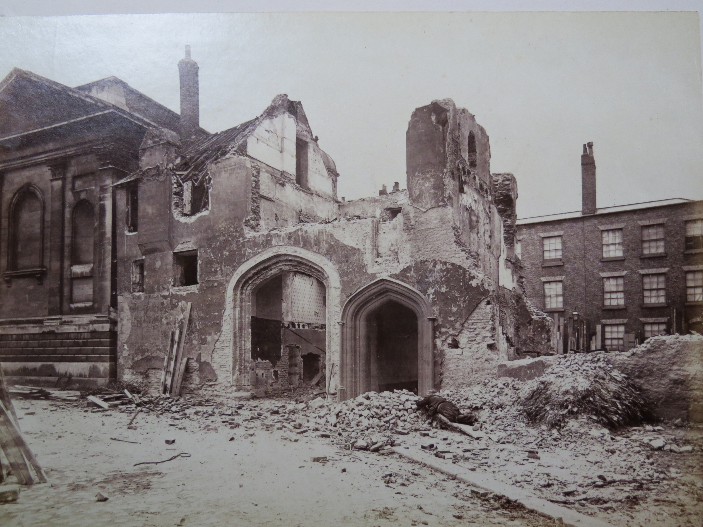 The Demolition of Trinity Hall, Cambridge in the 1880s.