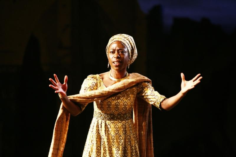 Nikki Amuka-Bird as Eurydice in the modern/ancient Thebes
