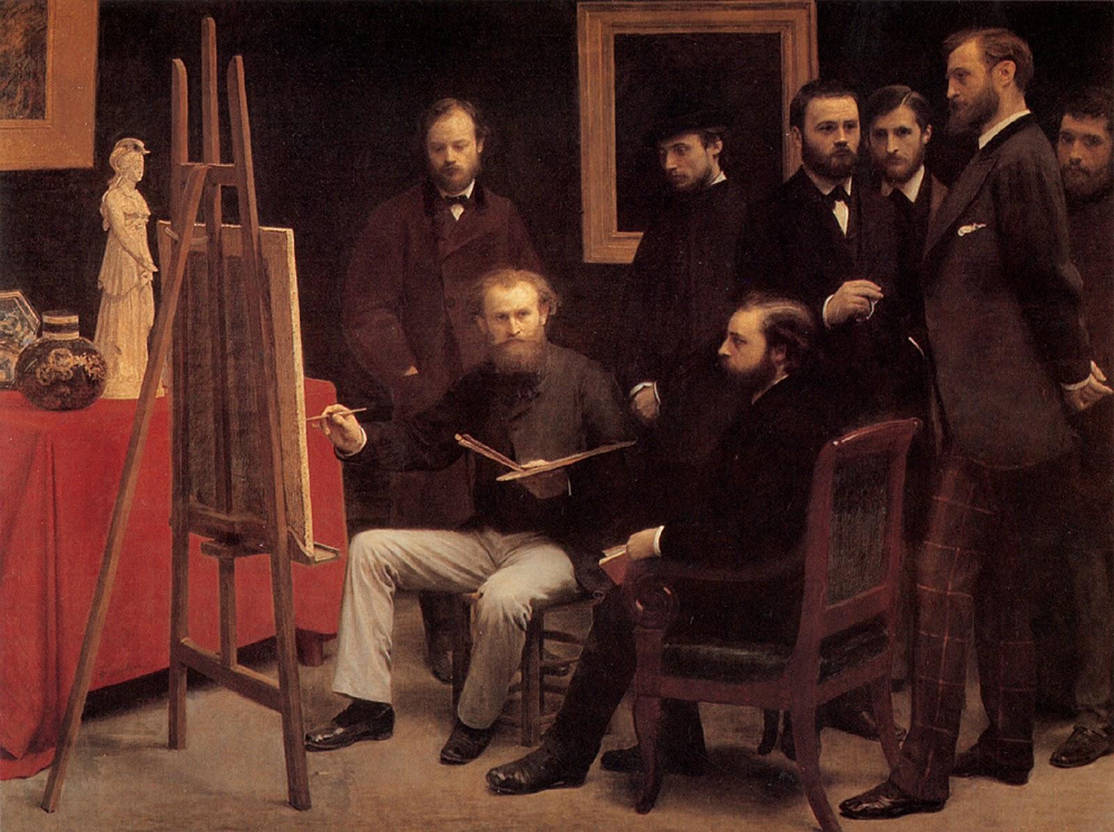 Fantin-Latour L'Atelier aux Batignolles  (1870)