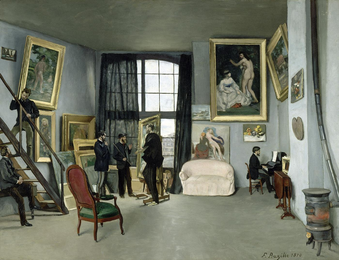 Bazille  Mon Atelier  (1869-70)
