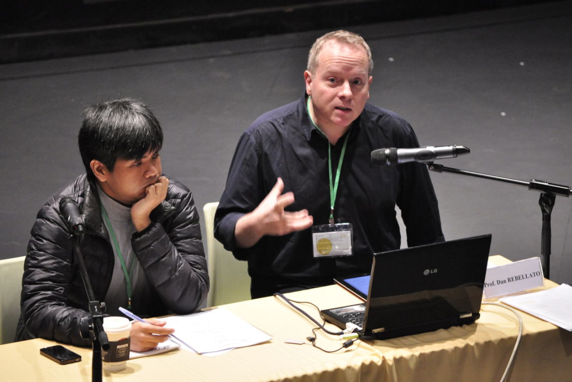 Here I am speaking at the On and On Theatre Conference
