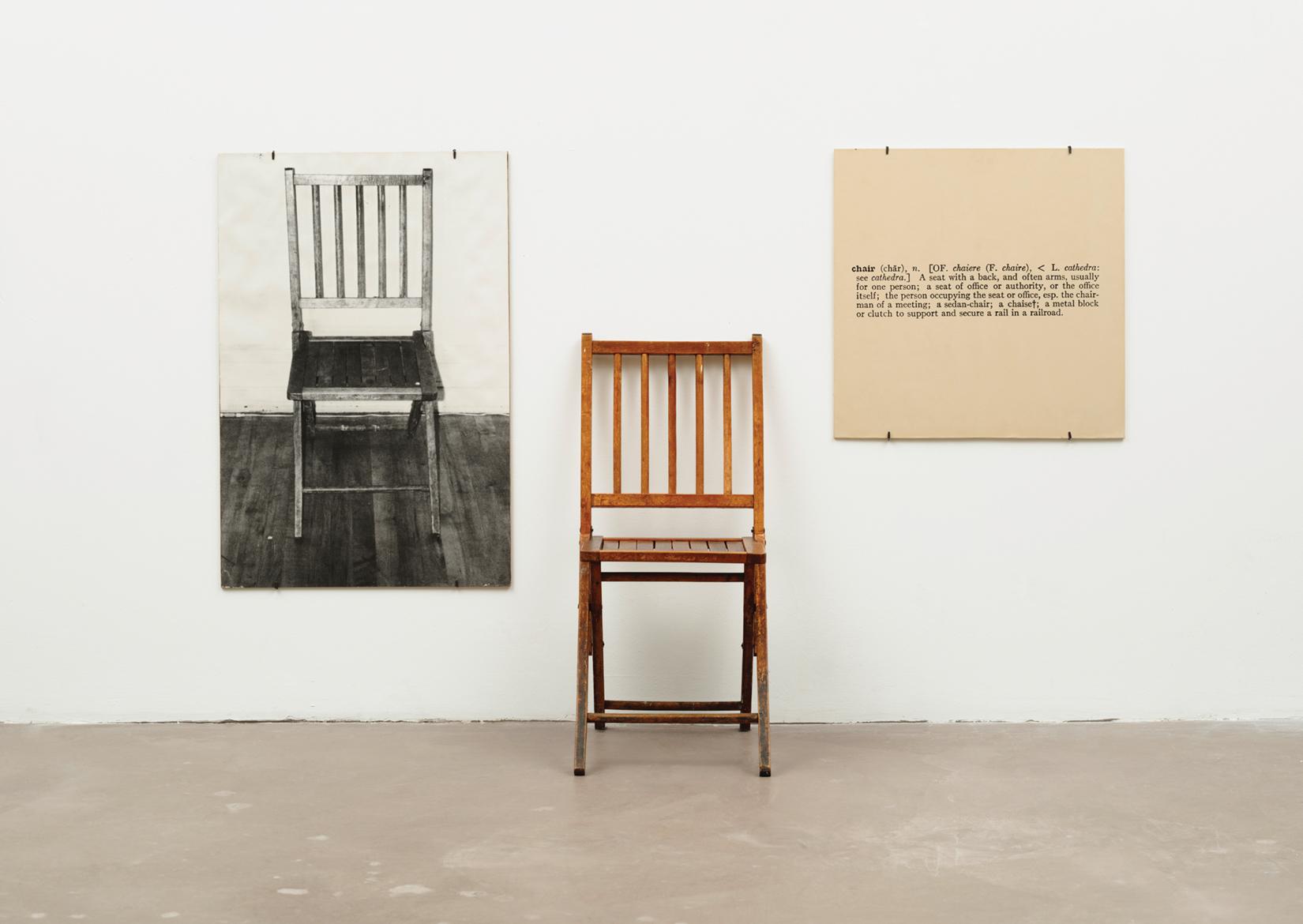Joseph Kosuth One and Three Chairs (1965)