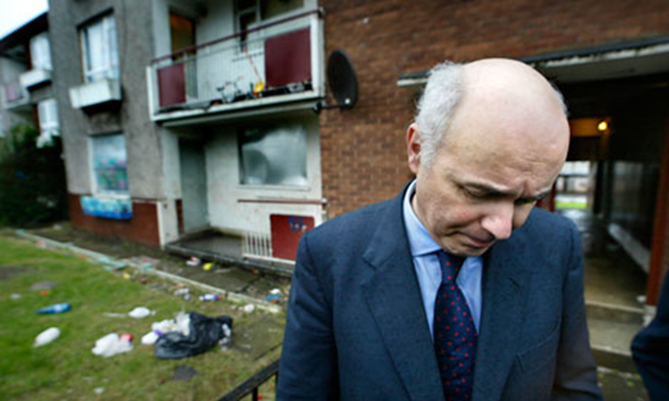 IDS or Mr Burns, not sure which, at Easterhouse