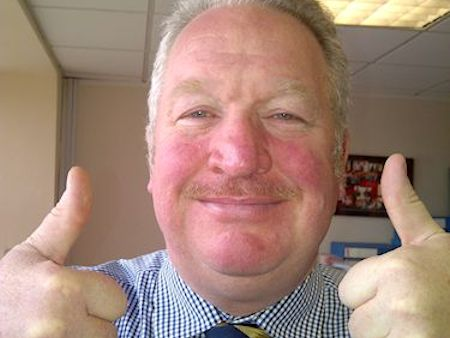 Self-confessed rugby nut Mike Penning supporting the England Team or something.