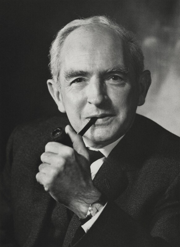 Christopher Fry, photograph by Godfrey Argent, 1970.  National Portrait Gallery.