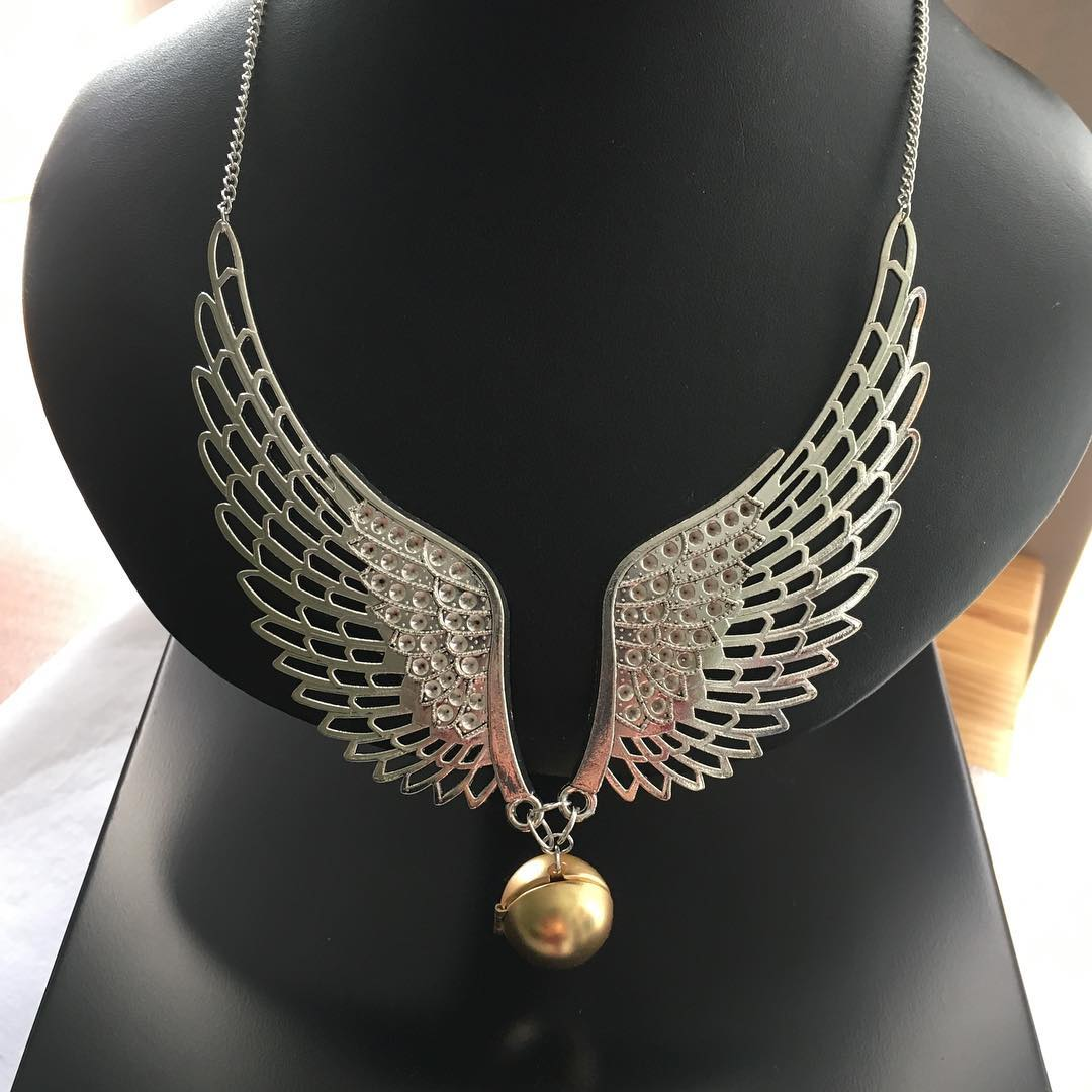Prototype of my new Golden Snitch statement necklace