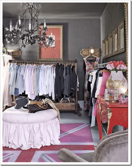 If you have a spare bedroom and limited closet space, why not turn it into a closet? Personally, I dream of a  COB  - closet, office, guest bedroom. I always work best in the midst of my wardrobe :) (Photo Credit: DecorPad)