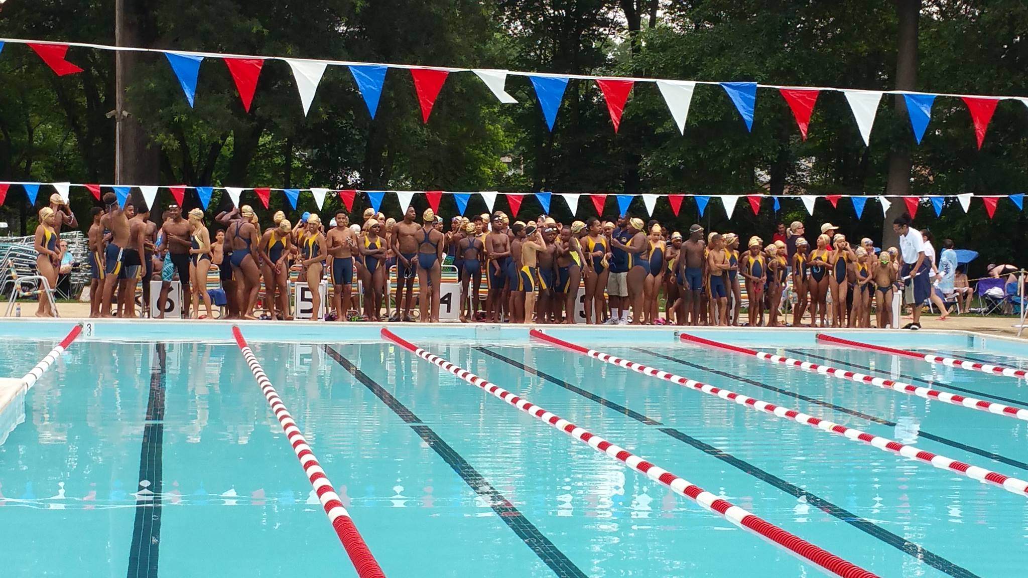 One word to describe this? RARE. I had the honor and privilege of swimming with a 100% minority swimming team from age 6-18. The  Theresa Banks Tigersharks  of Prince George's County, Md. have been undefeated and Prince-Mont Swim League champions since 2011.