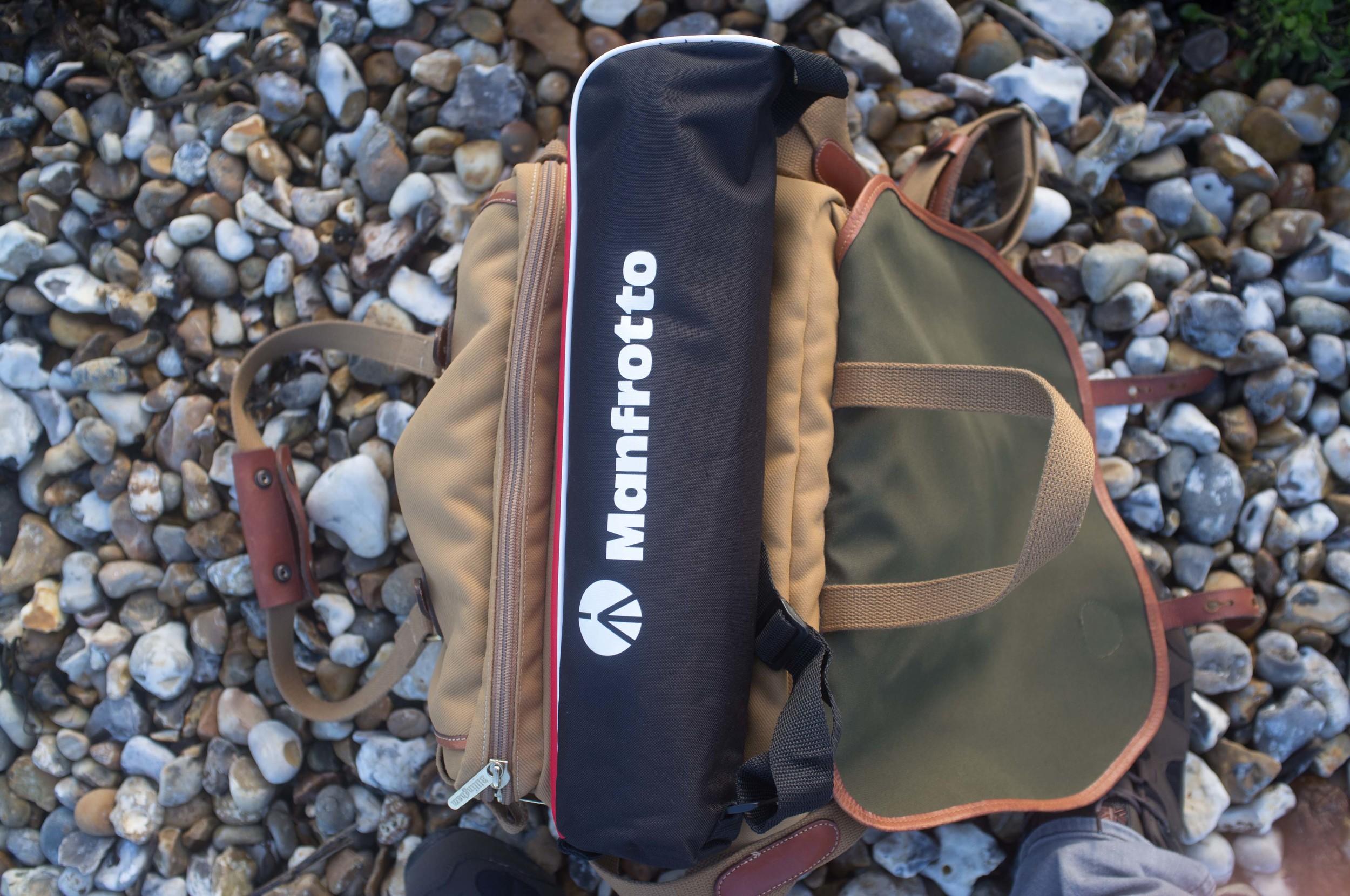 Folded up and sitting on Billingham 335 bag