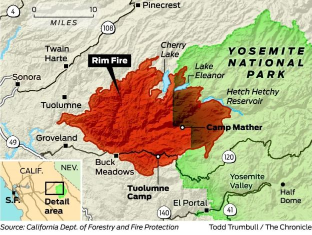 Map of fire area