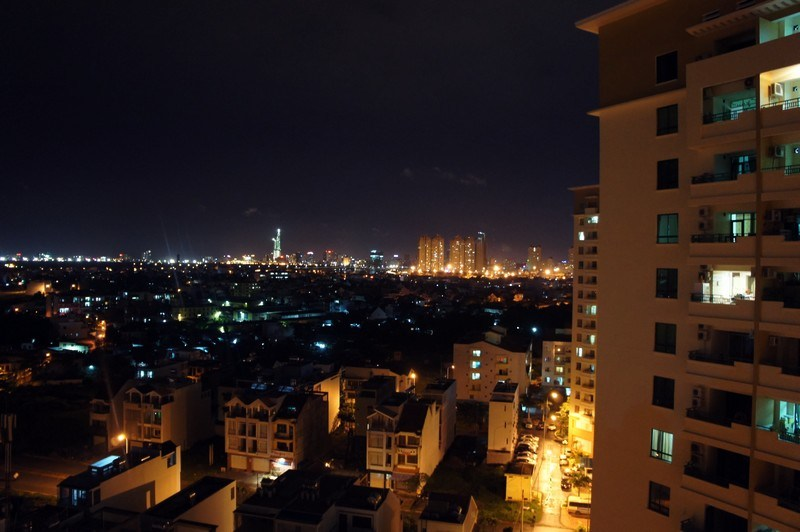 Saigon at night from District 2.