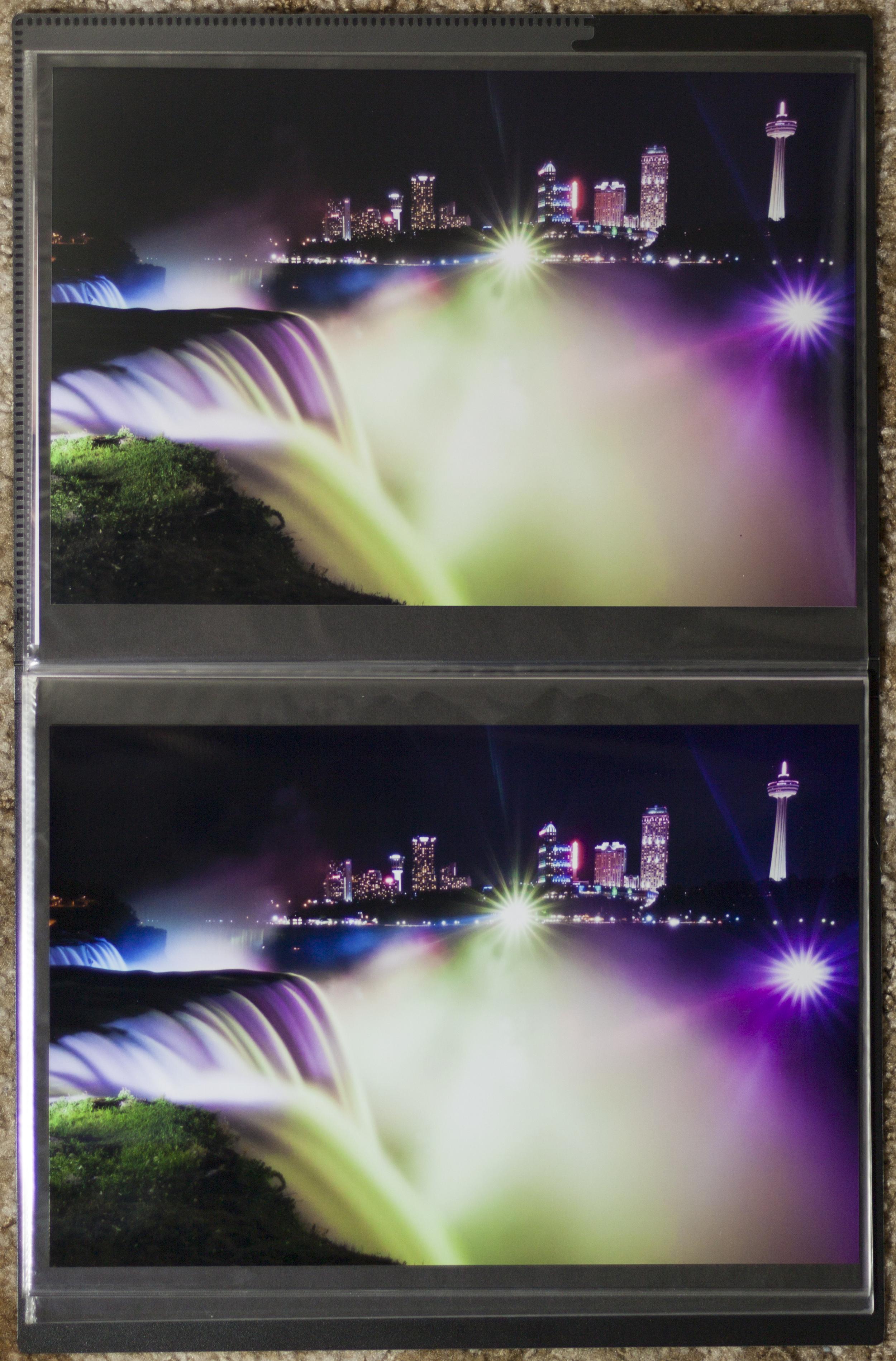 Fuji Pearl on Top. Kodak Endura on Bottom.