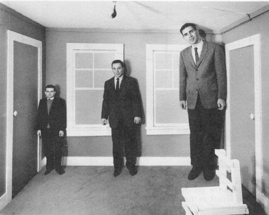 Ames Room Illusion - Source -  anopticalillusion.com