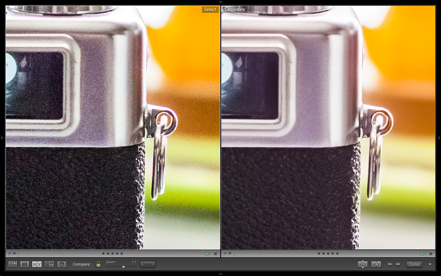 Stylized Comparison At ISO 1600. Raw on Left. HDR on Right.