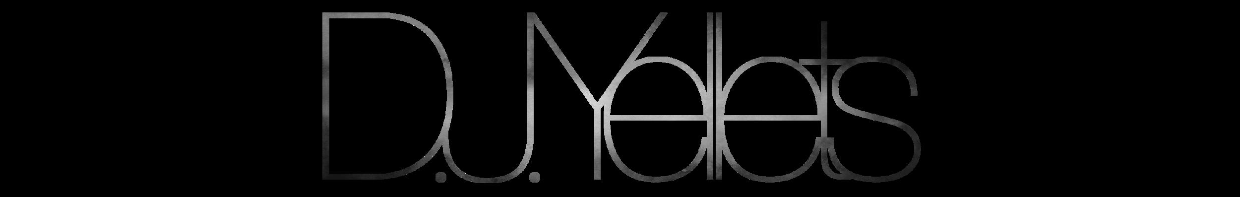 D.J. Yellets Logo BW.png
