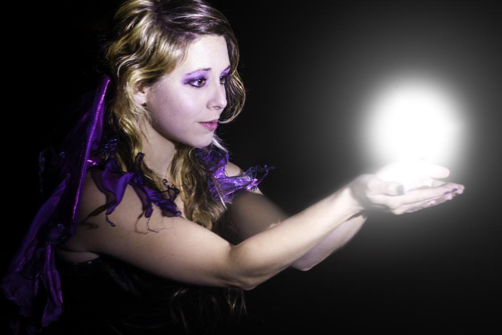 Zylina Model Light Painting Portrait Orb Fairy
