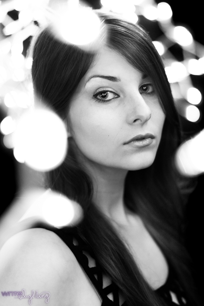 Black and White Bokeh Christmas Lights Portraits VezperArt Model 2.jpg