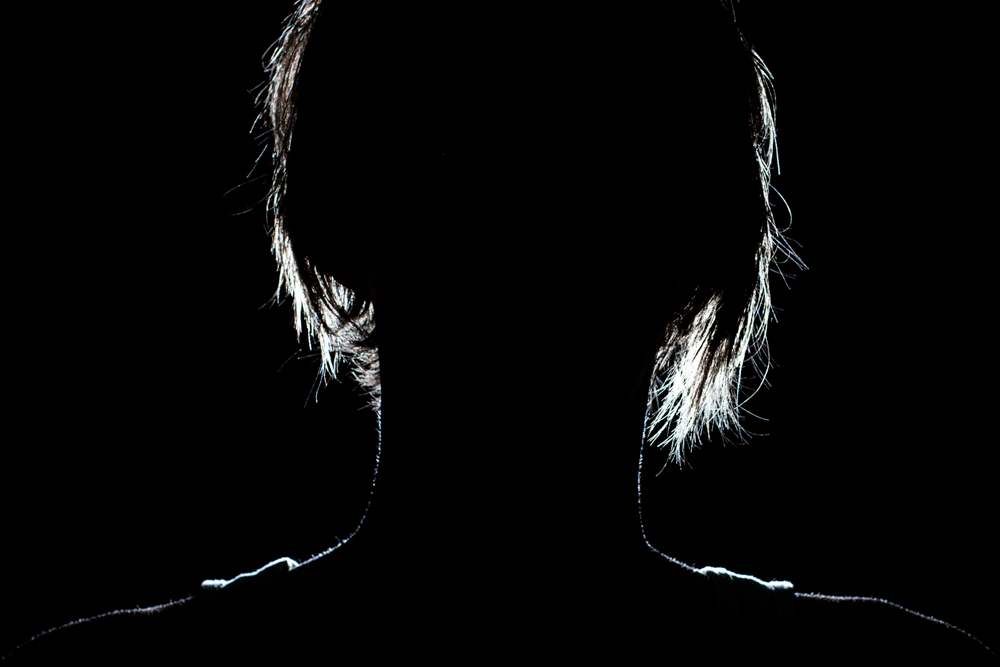 Light A Portrait On Black Background
