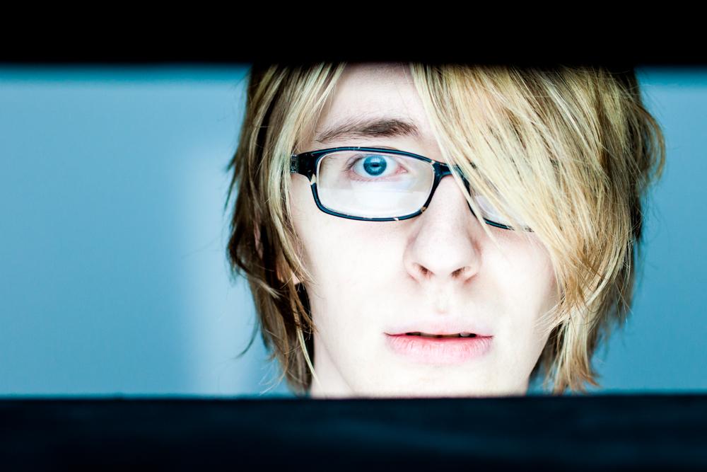 Write Lighting Alien Abduction Blue Headshot Conceptual Portrait.jpg