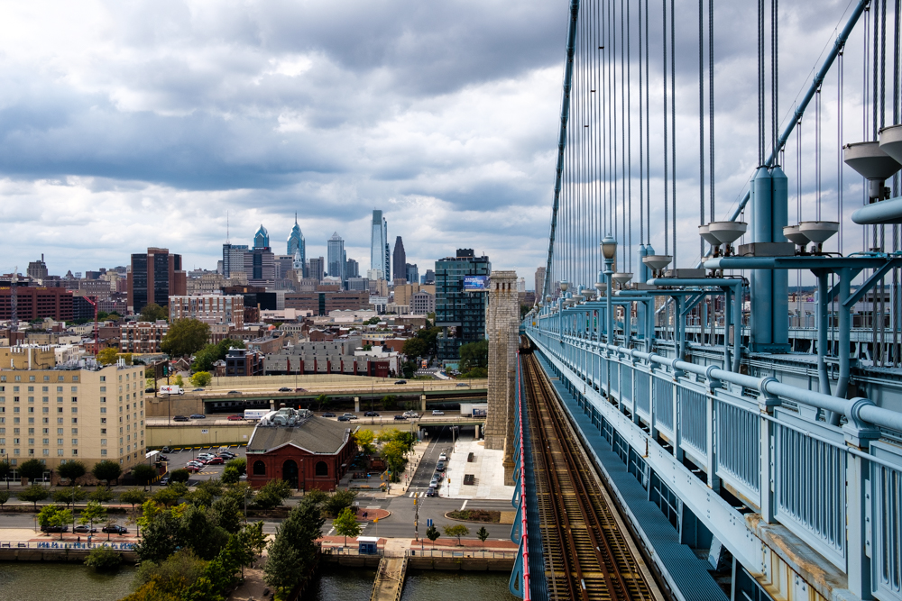 Write Lighting Ben Frankin Bridge Philly PA Urban Cityscape Photography.jpg