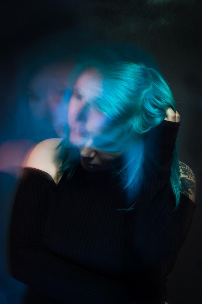 Write Lighting Multiple Exposure Portrait Photography Blue Hair.jpg