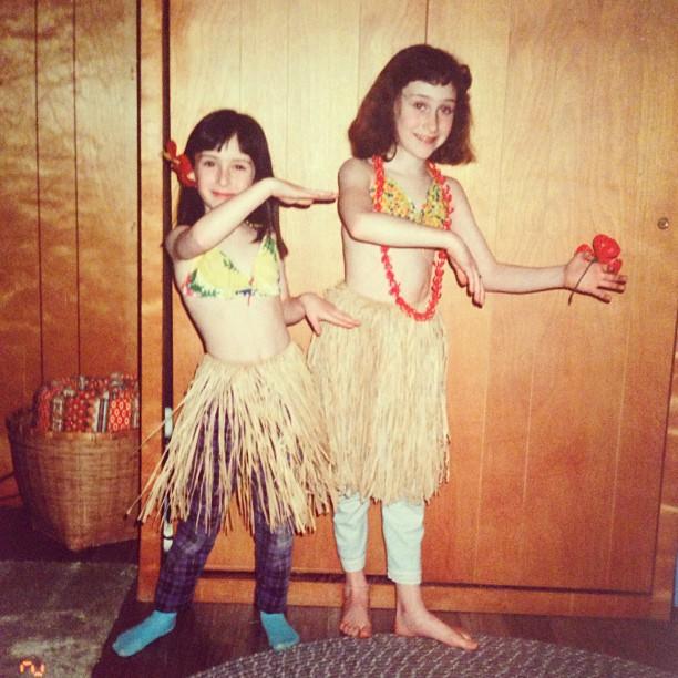Hula skirts and home-perms.