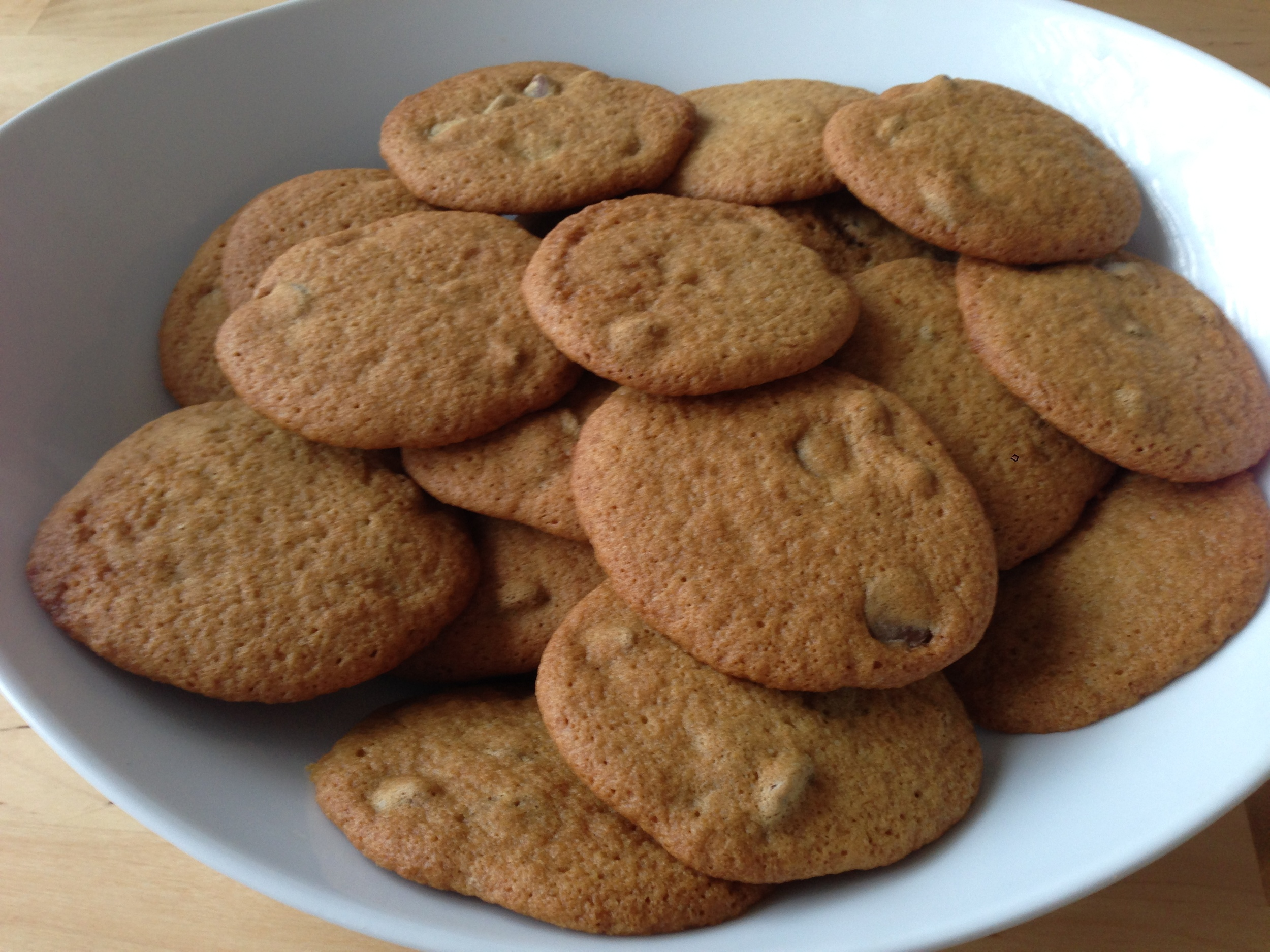 Crispy Chocolate Chip Cookies. Can you hear the angels singing? With their mouths full?