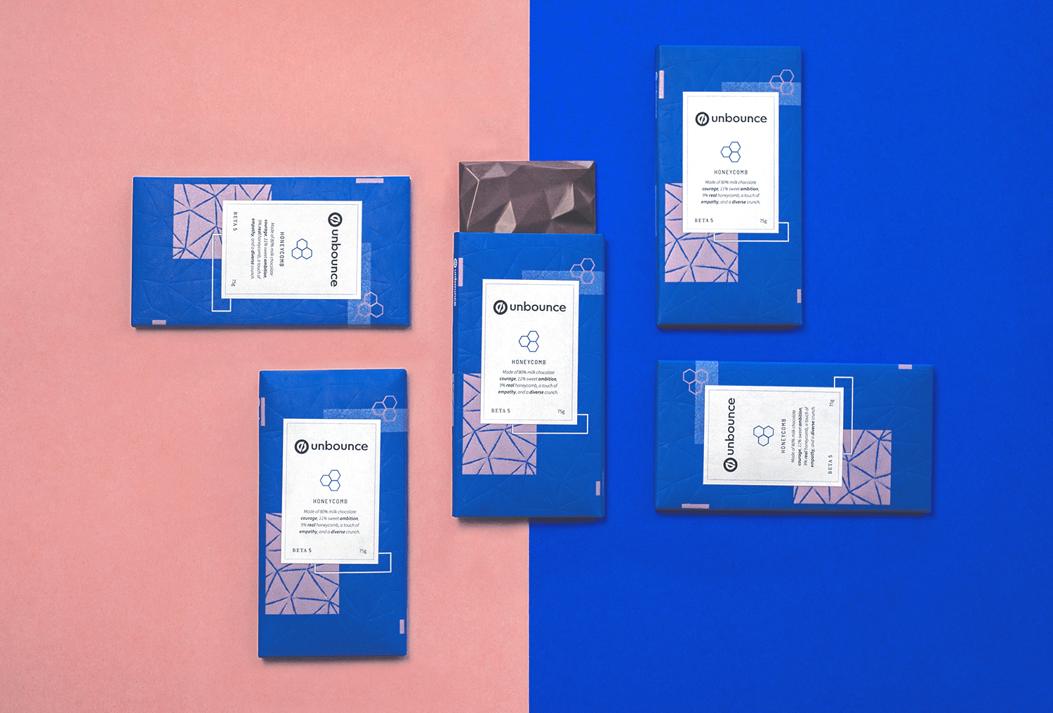 Inspired by MailChimp's internal brand reveal, 2 of our branded chocolate bars contained Golden Tickets for staff to find and win vacations with.