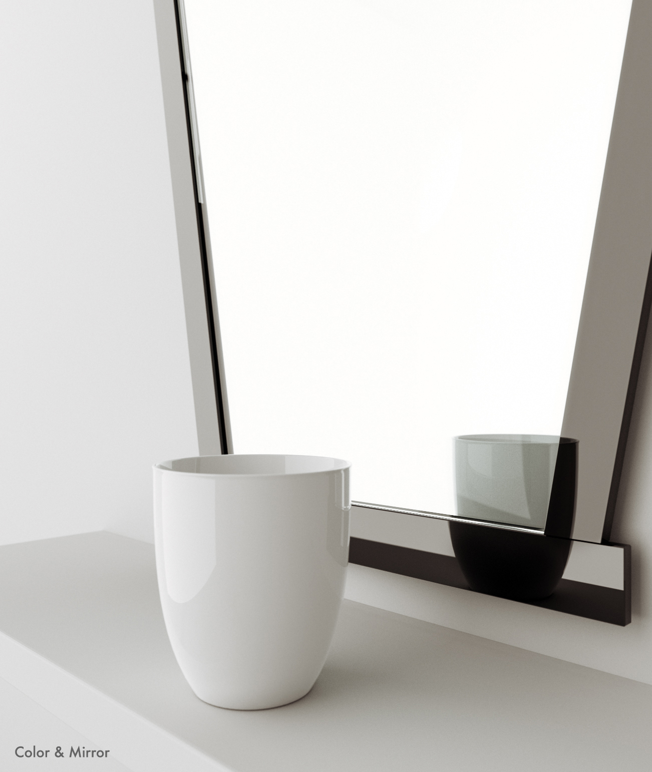 Side view of mirror.