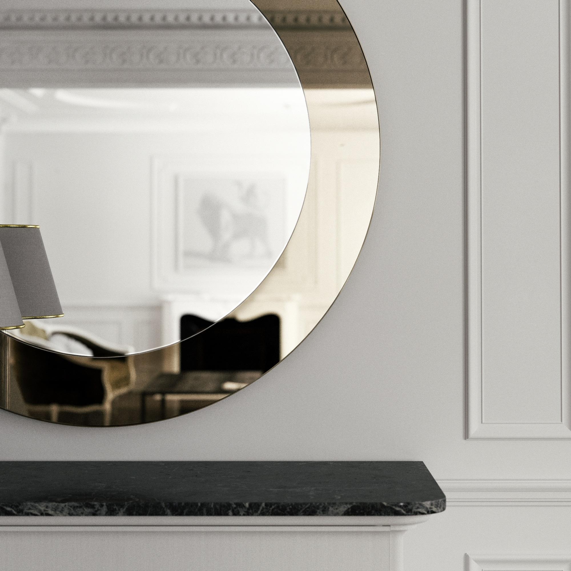 Detailed View of Golden Mirror
