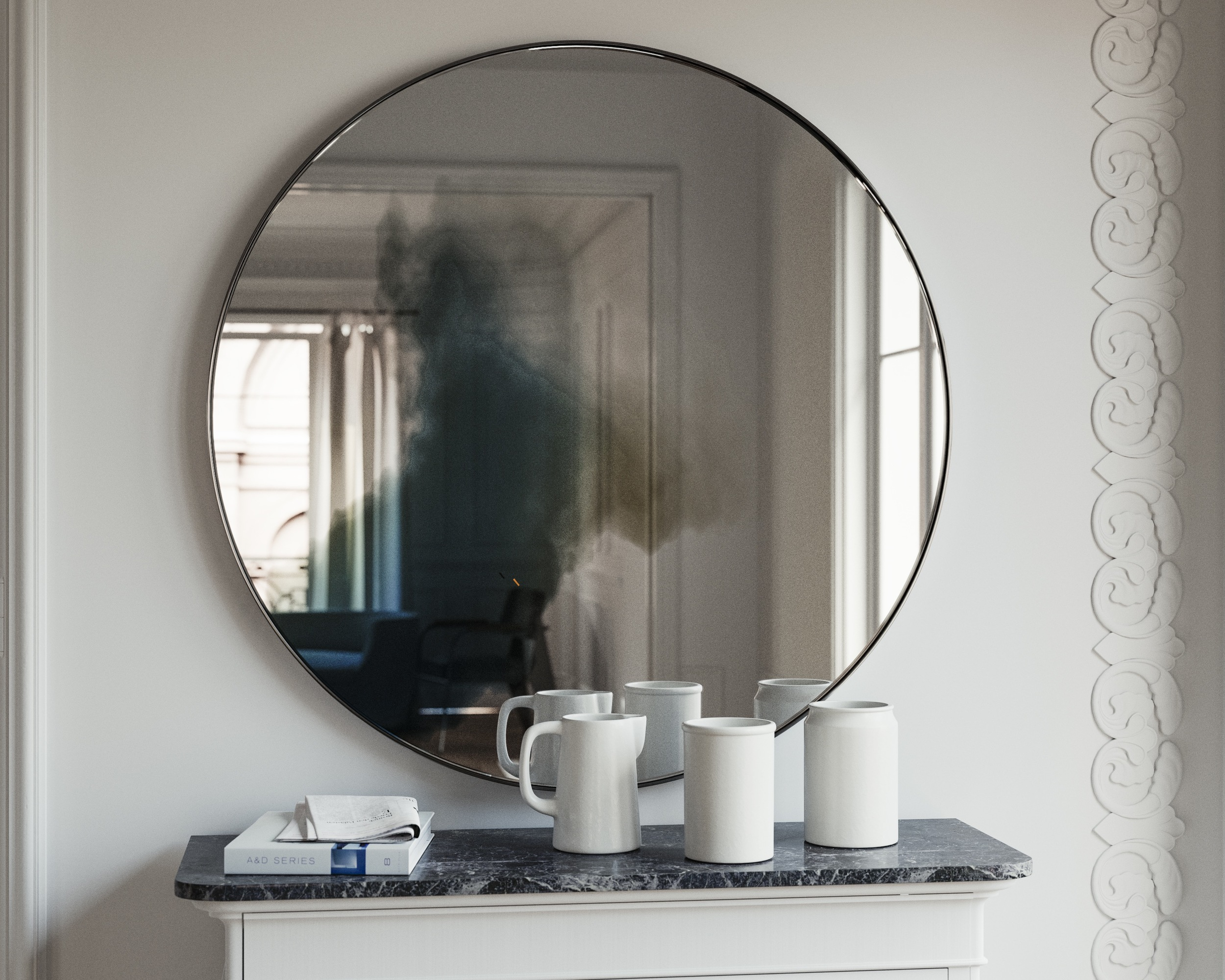 Another photo of mirror with subtle frame