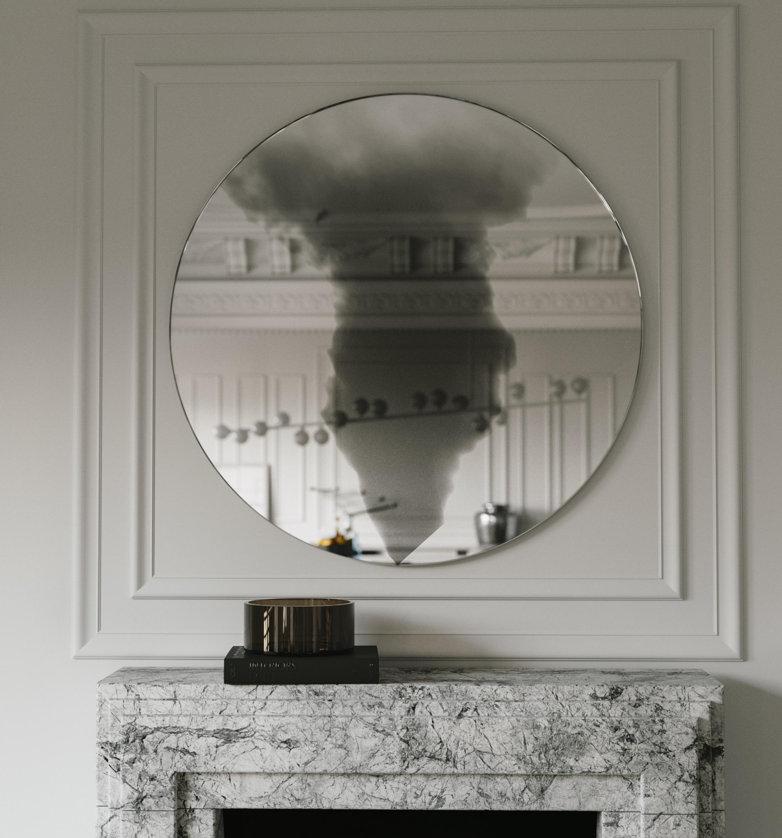 Close view of Smoke Cloud Wall Mirror