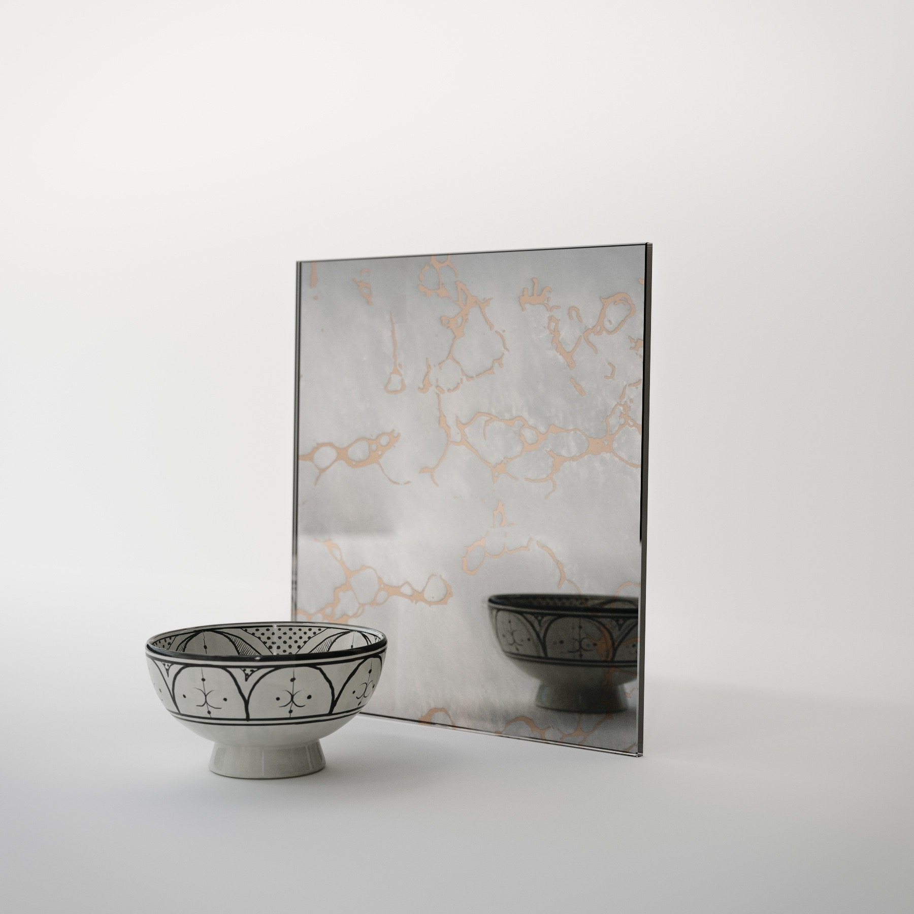 Golden Antiqued Mirror