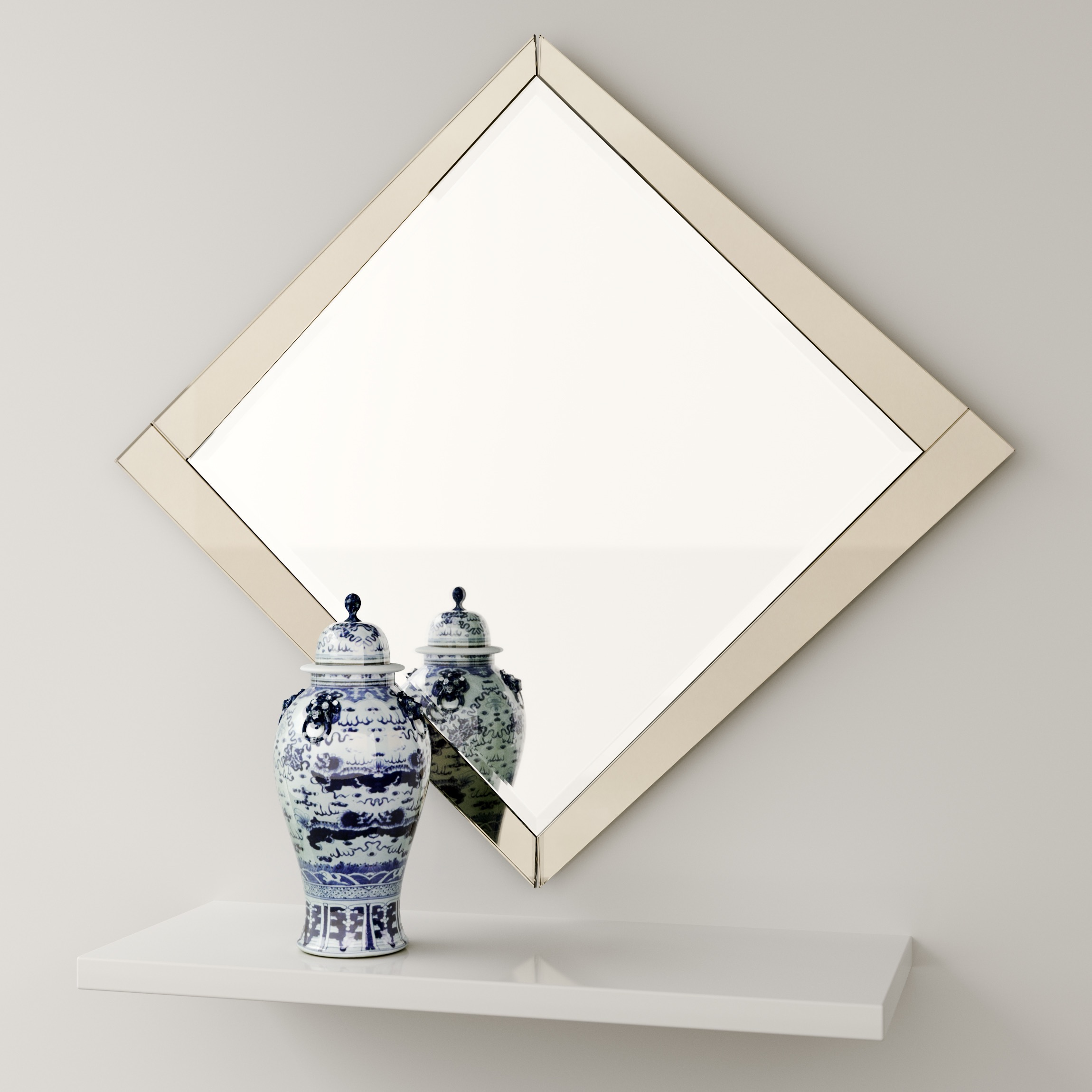 Art Deco Wall Mirror photographed in our Studio