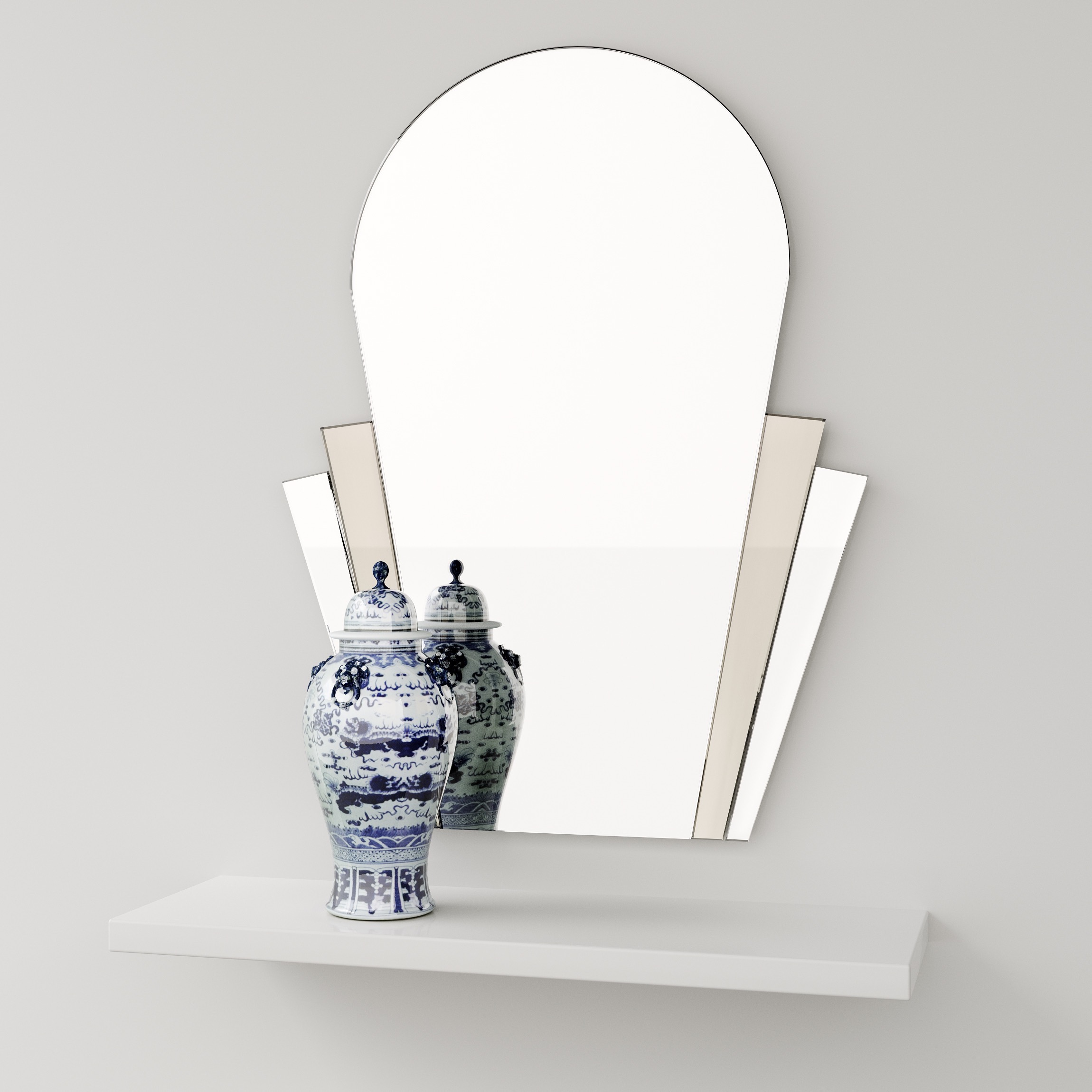 Front view of Art Deco Style Mirror