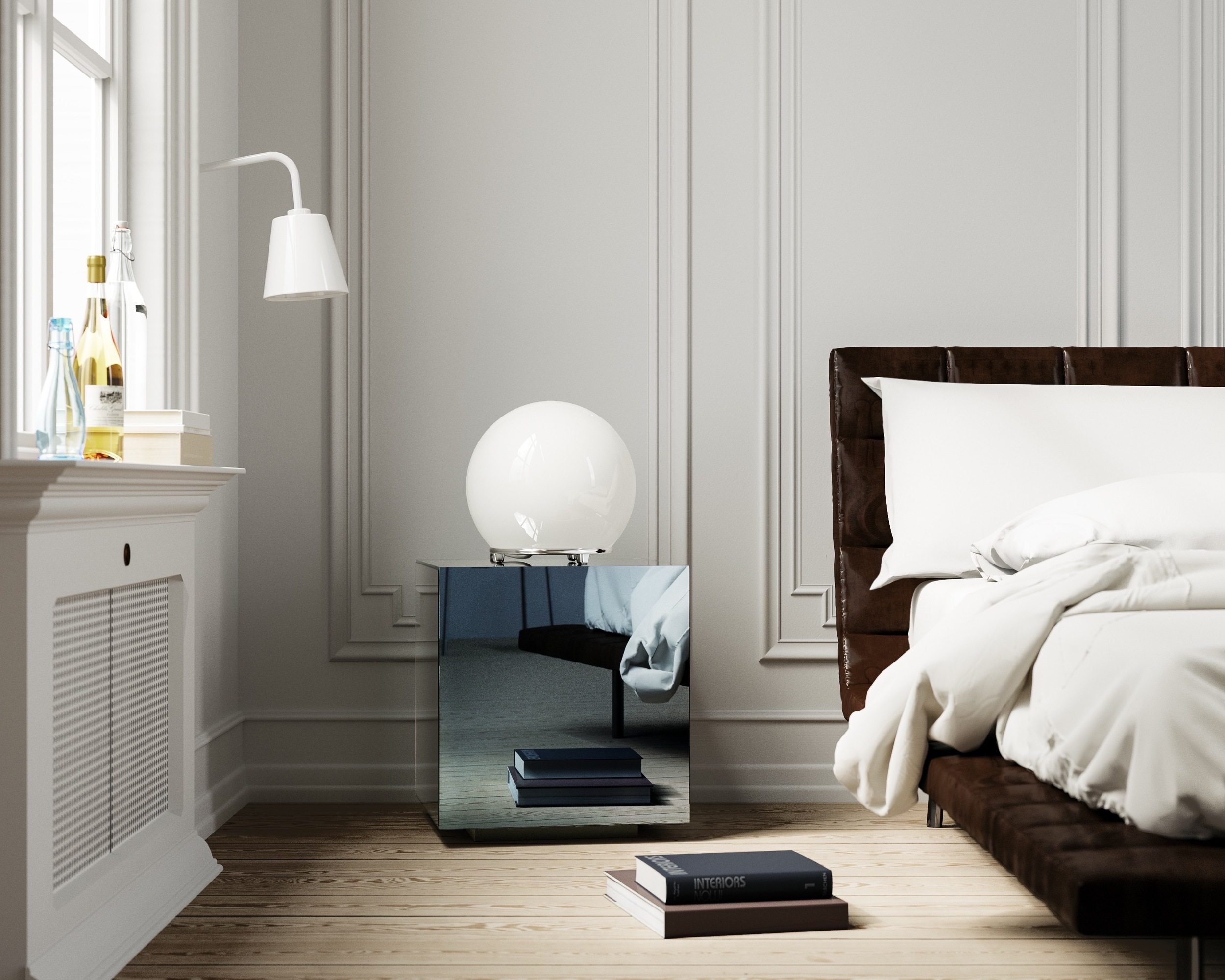 Mirrored Nightstand by Color & Mirror