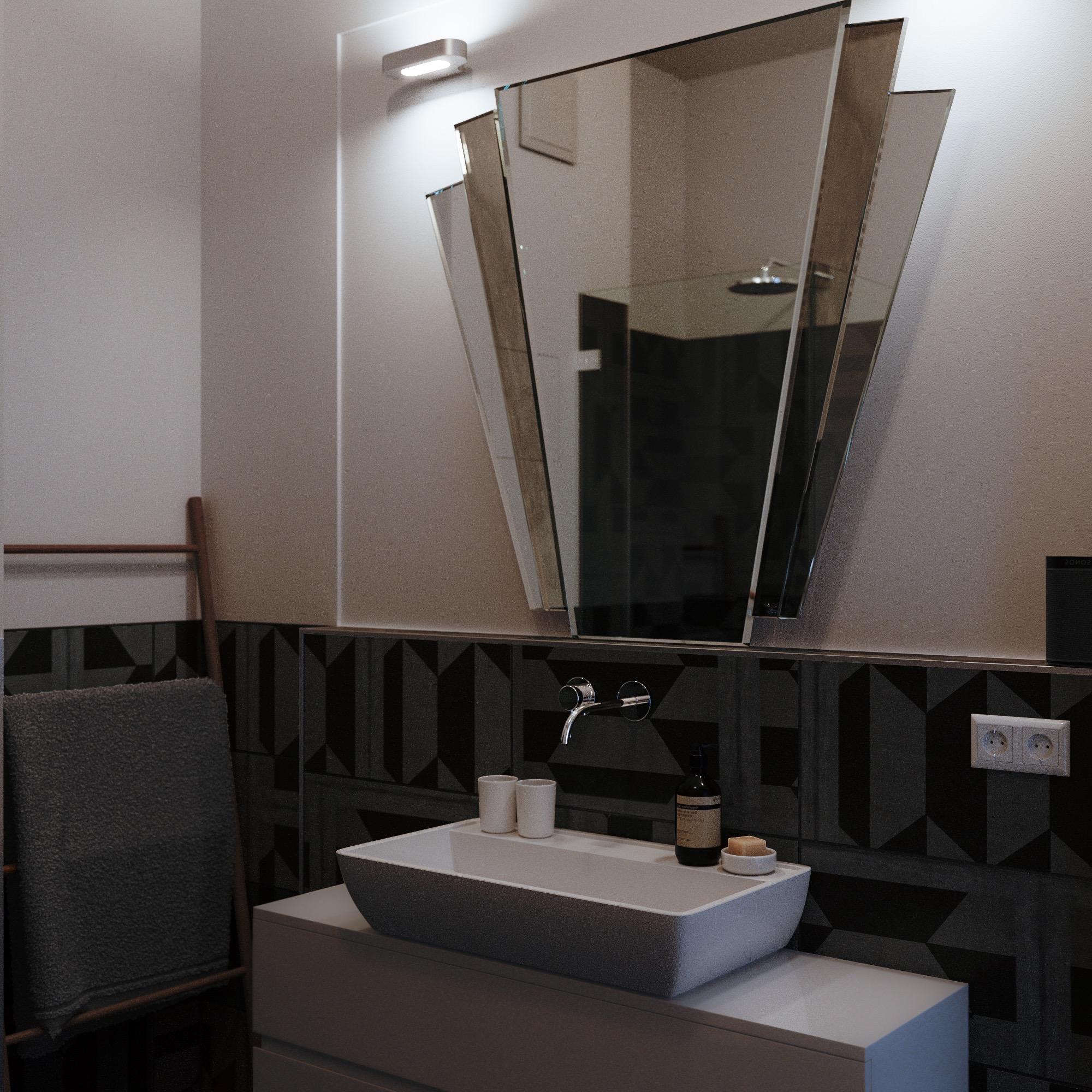 Classic Fan Style Art Deco Vanity Mirror